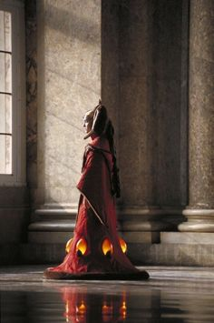 The throne room outfit is the most famous costume from the prequels. It's also the first time we meet Queen Amidala.