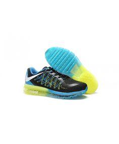 sports shoes 264ef b31cb Homme Nike Air Max 2017 Noir Bleu Vert Chaussures