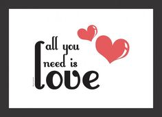 "Poster ""All you need is love"" para mesa de doces | http://www.blogdocasamento.com.br"