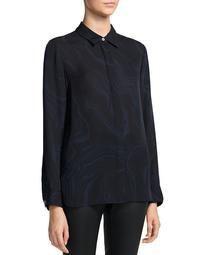 Printed Point Collar Shirt