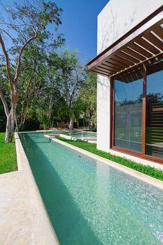 Aldea House, Merida, 2011 - Seijo Peon Arquitectos y Asociados #swimmingpool