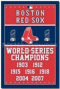 Boston Red Sox Champions Poster Print (24 X 36) - Item # SCO6745 - Posterazzi