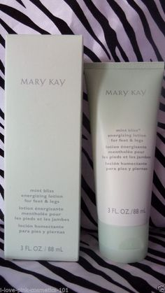 Mary Kay Mint Bliss Energizing lotion for feet & legs 3 oz NIB FRESH 2015   3-10
