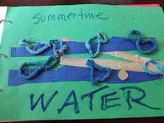 How do you create summer memories? By doing a summer memory book. Love this tactile one. Creative!