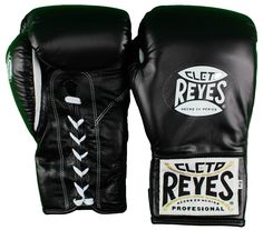 Cleto Reyes Official Safetec Professional Boxing Gloves - Black