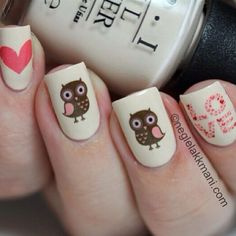 I am obsessed with Owls...therefore obsessed with these nails <3