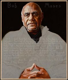 Portrait of Bob Moses by Robert Shetterly. (Credit: AmericansWhoTellTheTruth.org)