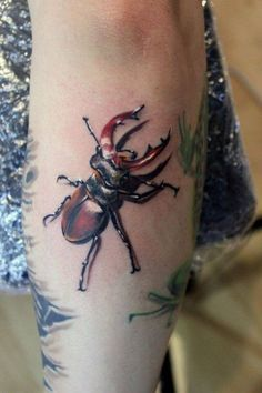 Beetle Tattoo, Bug Tattoo, Insect Tattoo, 3d Tattoos, Large Tattoos, Tribal Fashion, Skin Art, Pin Image, Tattoo Images