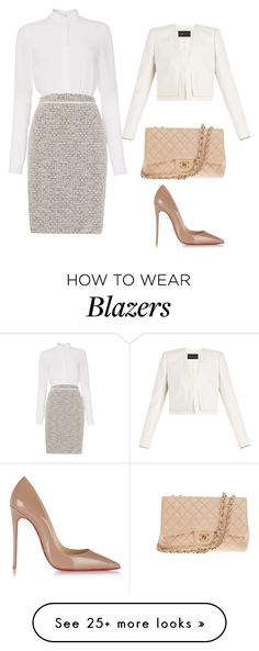 """Untitled #77"" by livysouthall on Polyvore featuring HUGO, Christian Louboutin, Chanel and BCBGMAXAZRIA"