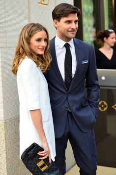 Olivia Palermo and Johannes Huebl pose on the red carpet at the Louis... News Photo 488462709