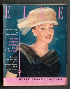 'ELLE' FRENCH VINTAGE MAGAZINE 29 OCTOBER 1956 in Books, Comics & Magazines, Magazines, Women's | eBay