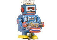 petit robot tambour Toys | shop pour enfants Le Petit Zèbre > http://www.petitzebre.com/categorie/art-et-kitsch/objets-retro/petit-robot-tambour-bleu