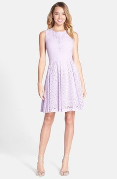 Betsey Johnson Cutout Eyelet Lace Fit & Flare Dress available at #Nordstrom