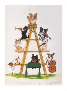 yoko yamamoto Yoko, Whimsical Art, Yamamoto, Dog Love, Miniature, Illustration Art, Animals, Fictional Characters, Animales