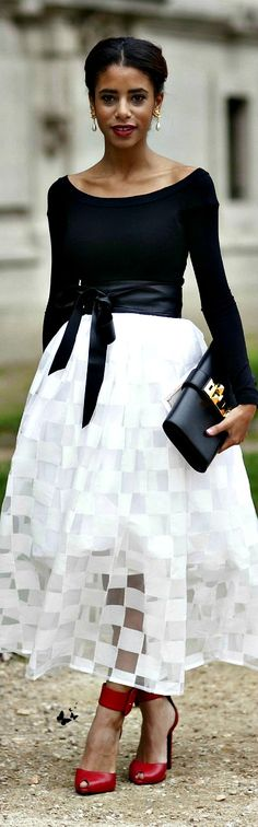 ~ Class Never Goes Out of Style. *Black + White Cocktail Dress