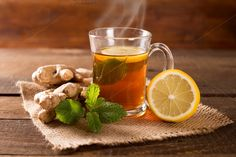 hot ginger tea by peterzsuzsa on Creative Market