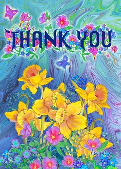 Thank You Card Painting by Teresa Ascone Thank You Gifs, Thank You Images, Thank You Messages, Thank You Quotes, Thank You Cards, Happy Birthday Cards, Birthday Greetings, Birthday Wishes, Diy Cards