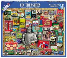 Tin Treasures - 1000 Piece Jigsaw Puzzle