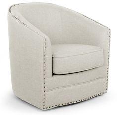 Lovely Baxton Studio Porter Barrel Chair