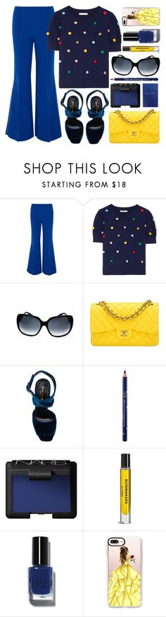 """Chatty"" by smartbuyglasses-uk ❤ liked on Polyvore featuring Paper London, Alice + Olivia, Gucci, Chanel, Yves Saint Laurent, 100% Pure, NARS Cosmetics, Veda, Bobbi Brown Cosmetics and Casetify"