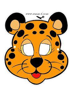 Маска леопарда из бумаги