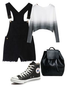 """""""Untitled #70"""" by dannikate ❤ liked on Polyvore featuring Converse, women's clothing, women's fashion, women, female, woman, misses and juniors"""