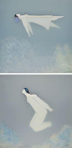 Swimming illustrations by Sonia Alins #illustratedwomen
