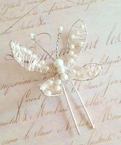 Large Butterfly Pearl Hairpin by UniqueChicCreations on @Etsy , £19.99