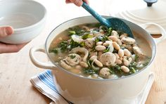 White Bean and Kale Soup with Chicken Sausage
