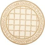 Chelsea Ivory/Camel 5 ft. 6 in. x 5 ft. 6 in. Round Area Rug