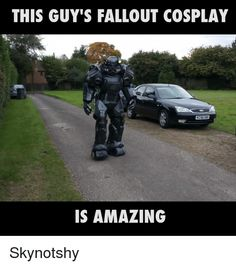 'Fallout' Power Armor Brought To Life In A Stunning Cosplay [Video] Fallout Quotes, Fallout Funny, Fallout 2, Fallout New Vegas, Fallout Cosplay, Cosplay Diy, Best Cosplay, Cosplay Armor, Fallout Power Armor