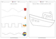 Wakacje - karty pracy dla przedszkola. PDF do druku | RodzicielskieInspiracje.pl Line Chart