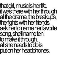 music is her life