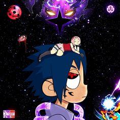 got another anime one for yall sasuke vs the world (via:unknown) Lil Uzi Vert Cartoon, Dope Cartoon Art, Cartoon Kunst, Anime Kunst, Anime Naruto, Naruto Shippuden Anime, Naruto Art, Boruto, Anime Ninja