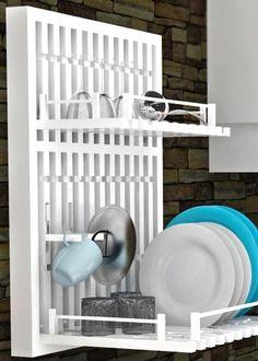 geschirrabtropf st nder halter mit eingebautem untersetzer abtropfbreter besteckkorb kunststoff. Black Bedroom Furniture Sets. Home Design Ideas