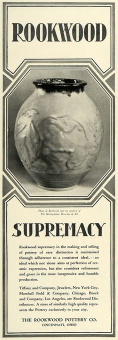 1929 Ad Rookwood Pottery Vase Decorative Household Garden Decor Cincinnati COL2