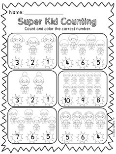 Superhero Literacy and Math Printables - Super Kid Counting