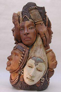 Kathy Waggoner, escultura, sculptures, arte, art, native cultures,