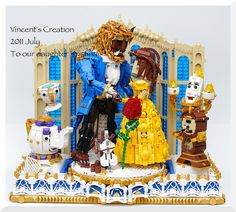 Beauty & The Beast LEGO. Oh wow! #autism #aspergers