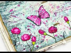 Step by step mixed media art journal page. - YouTube