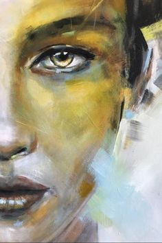 Painting, woman painting, painting art, gold leaf art, acrylic painting c. Abstract Portrait Painting, Eye Painting, Portrait Art, Oil Painting On Canvas, Woman Painting, Portrait Acrylic, Abstract Canvas, Canvas Art, Art And Illustration