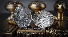 Add instant charm to your home with vintage inspired crystal & brass door hardware from Nostalgic Warehouse.
