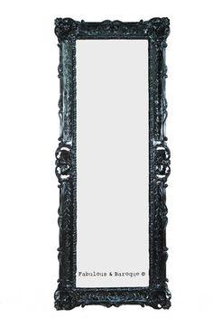 Monique Floor Mirror by Fabulous & Baroque at Gilt Deco Baroque, Modern Baroque, Baroque Design, Decor Interior Design, Interior Decorating, Gothic Mirror, Baroque Mirror, Beveled Edge Mirror, Baroque Furniture