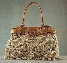Wanda Arte em Croche: Bolsa Salvatore Ferragamo - em trico