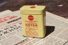 Medical Tin  Roter Tin Box  Vintage Tin  Metal Tin  by NarMag