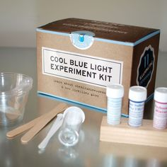 Cool Blue Light Experiment Kit - Learn about chemiluminescence with this chemistry set. $ 16.00