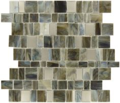 Champion Tile  Stainless Steel Series, Unique Shapes, Sky Mix, Glossy, Brown, Glass and Metal