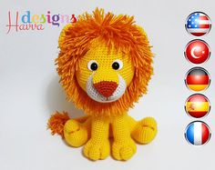 Ehi, ho trovato questa fantastica inserzione di Etsy su https://www.etsy.com/it/listing/221689422/pattern-lion-amigurumi