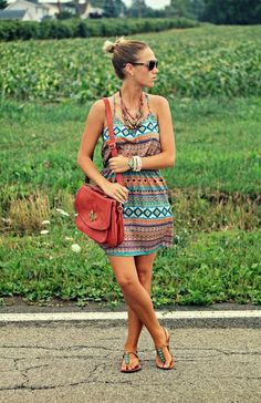 Stylish Summer Dress With Shades find more women fashion ideas on http://www.misspool.com find more women fashion ideas on www.misspool.com
