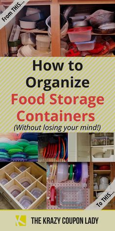 Kitchen organization, especially when trying to wrangle your food storage like Tupperware, doesn't have to feel impossible! We've rounded up the best tips, tricks, setups, and examples for how to keep storage lids and bottoms organized. Make things easy to find using one of these genius organization hacks! #organization #hacks #kitchen Organisation Hacks, Organizing Hacks, Hacks Diy, Cleaning Hacks, Car Hacks, Food Hacks, Tupperware Organizing, Tupperware Storage, Kitchen Storage